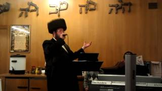 World renowned chazzan & singer Moshe laufer singing A Yiddishe Mamme, at sheva brochos.