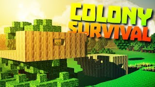 TREEHOUSE BUILD - Colony Survival PC Gameplay Part 1 - New Minecraft Clone Conoly Survival Update