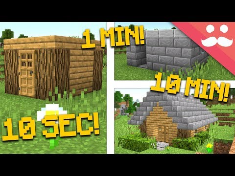 MINECRAFT HOUSE: 10 Minute, 1 Minute, 10 Second! thumbnail