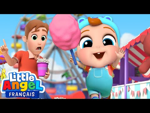Jeux et Bonbons au Parc d'attraction | Comptines avec Bébé Louis | Little Angel Français