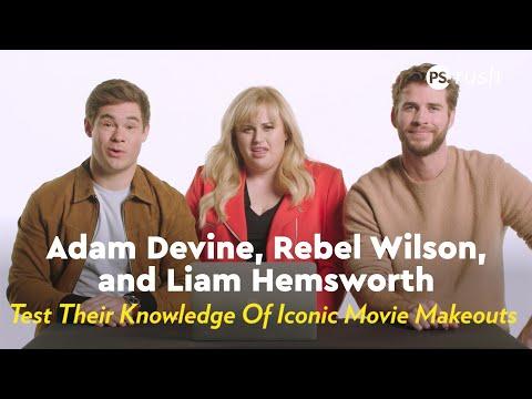 Liam Hemsworth, Rebel Wilson & Adam Devine Test Their Knowledge Of Iconic Movie Makeouts