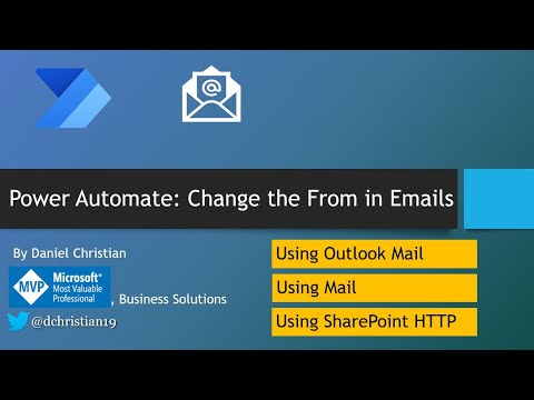Power Automate: Change the From in Emails