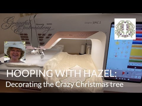 Hooping with Hazel: Decorating the Crazy quilted Christmas tree