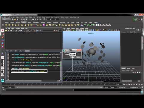 Introduction to Python Scripting in Maya - Part 4: Generating a User Interface