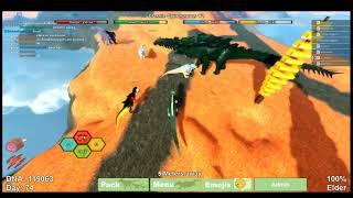 Dino Sim [Roblox] War w/ChickenEngin3r and Sprookies!