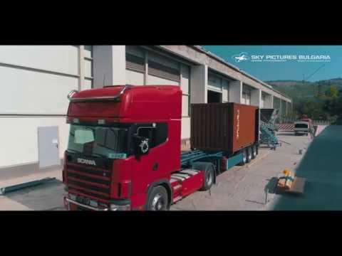 Aerial corporate video заснемане с дрон на корпоративен клип