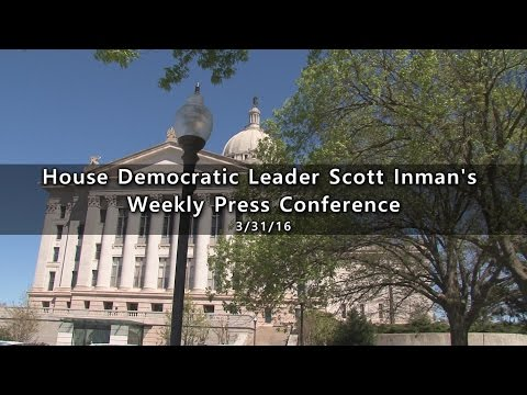 Democratic Leader Scott Inman Press Conference