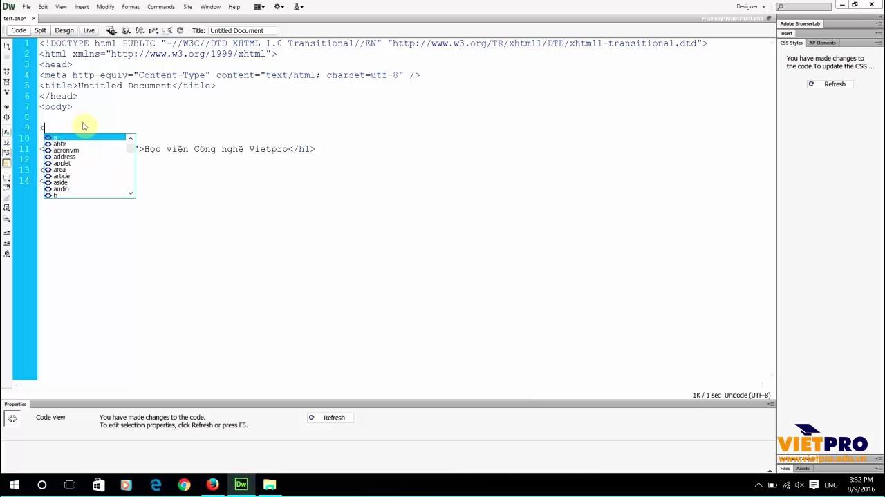 PHP 05 - Các vùng làm việc trên PHP - Học Lập Trình PHP Miễn Phí