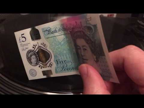 New £5 Note Can Play Vinyl Records