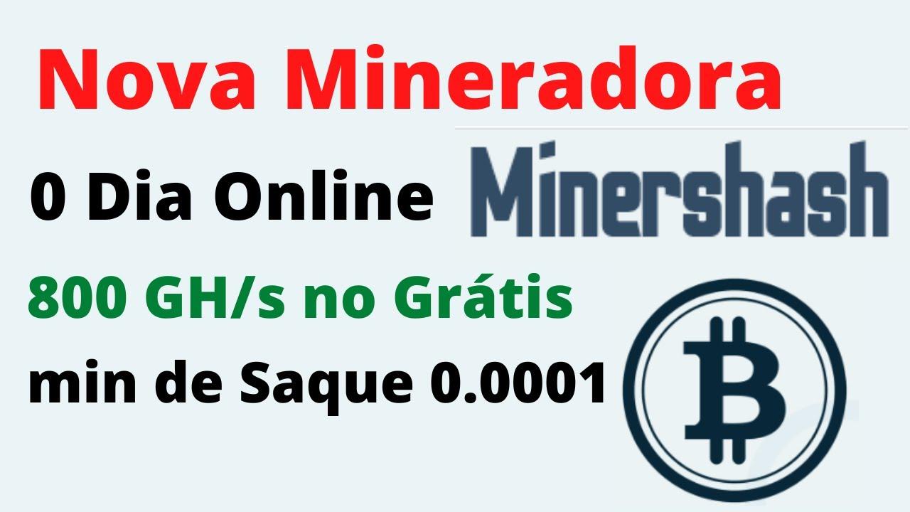 SAIU! MinersHash Nova Mineradora 800 Ghs Grátis 0 Dia Online