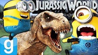MINIONS TAKE OVER JURASSIC WORLD?!?! | Gmod Sandbox Fun (Riding Dinosaurs!)