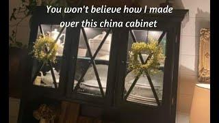 Black china cabinet makeover :)