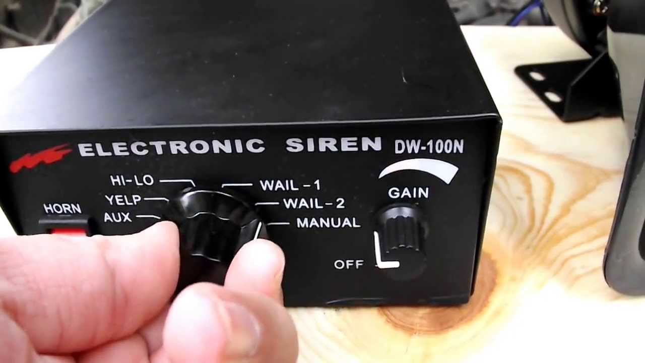 Abrams Siren Wiring Diagram Custom How To Install Whelen 100 Watt Electronic Speaker Youtube Rh Com Federal Signal 3 Wire