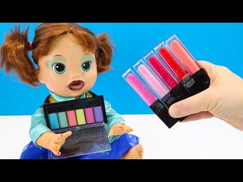 Как Мама Красила Девочек Косметикой Мультики для детей Играем в Куклы Пупсики 108мама тв