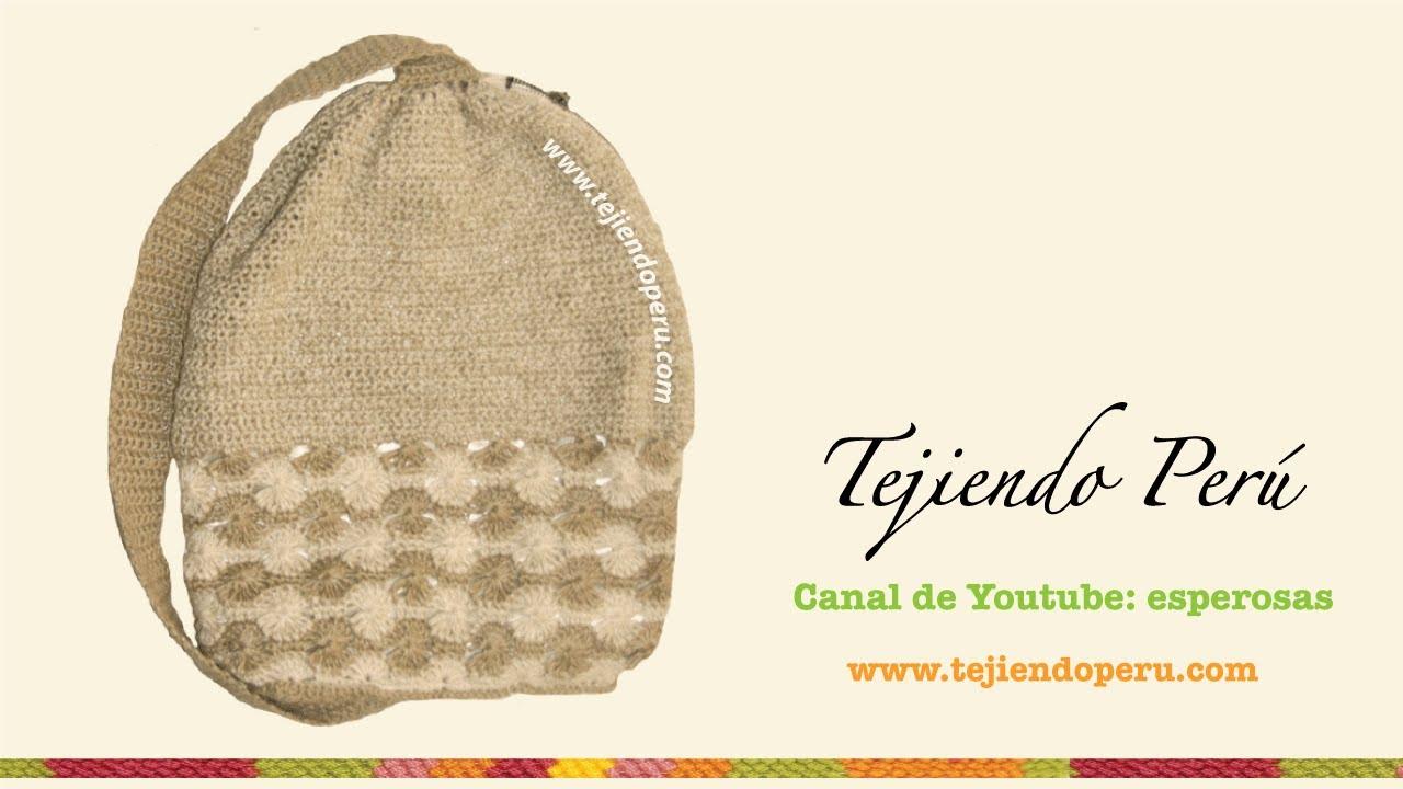 Mochila tejida en crochet - YouTube