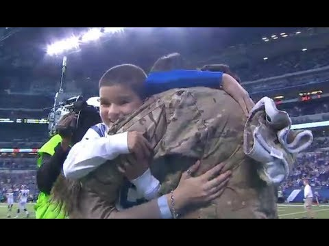 Military Family Surprised at NFL Game With New Car & Dad Home From Deployment