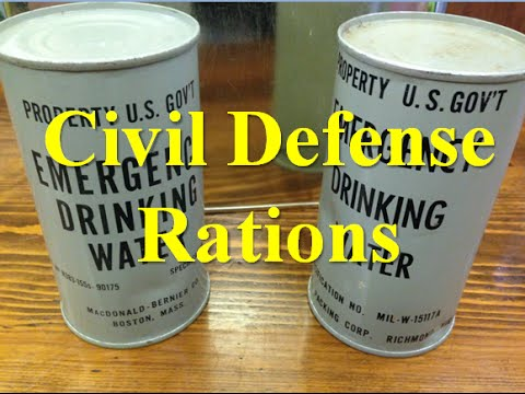 Civil Defense Rations 50's Style