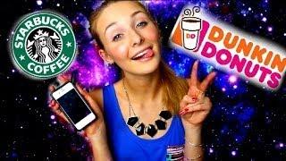 STARBUCKS VS. DUNKIN DONUTS?! (Lauren