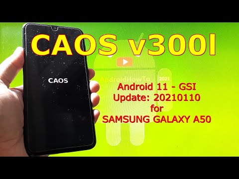 CAOS v300l Android 11 for Samsung Galaxy A50 Update: 20210110