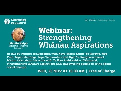 Strengthening Whānau Aspirations