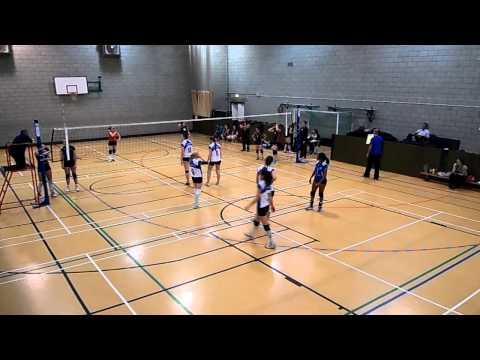 London Volleyball Women's Premier League Match: Lionhearts East vs Swiss Cottage. Set 3