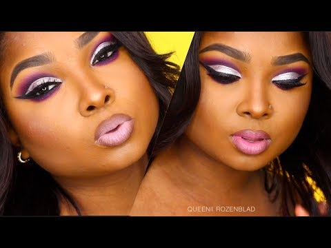 Purple and Silver cut crease makeup tutorial Collab  Beauty By Lee / Queenii Rozenblad