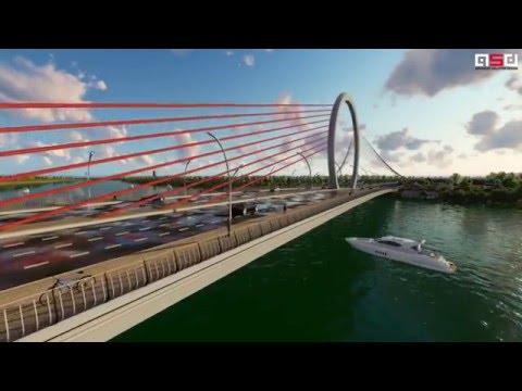Cầu vượt sông hương- Phương án Trăng sông Hương - A162