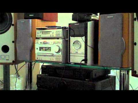 Paris hip hop track played on sony minidisc player thru old Mission speakers