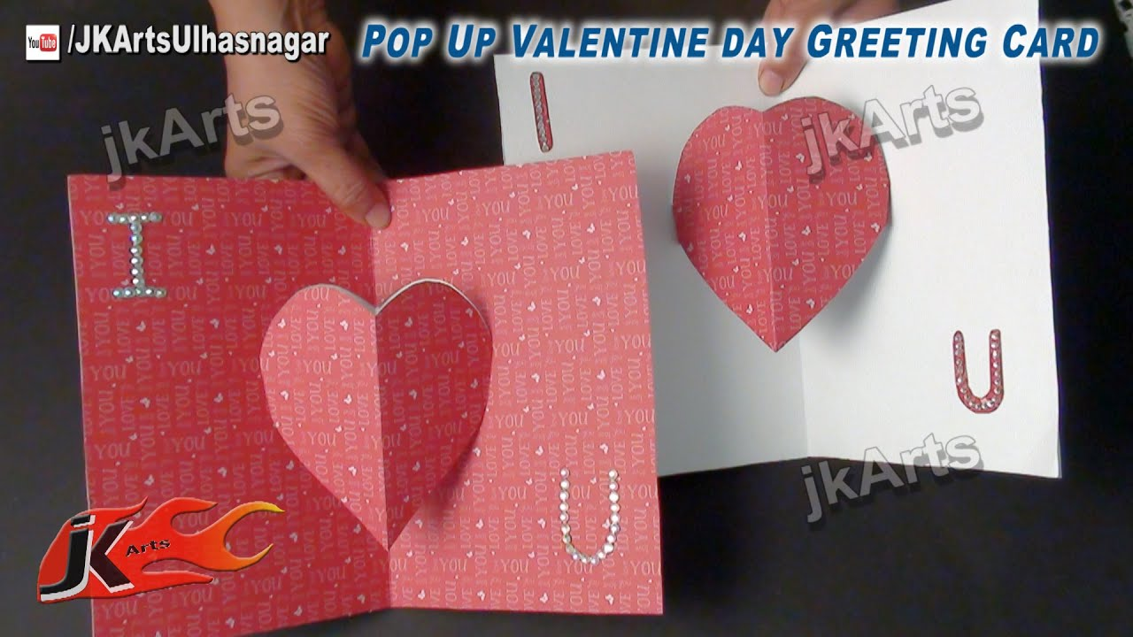 Easy Valentines Day Pop Up Greeting Card Tutorial JK Arts 485 – Easy Valentine Card