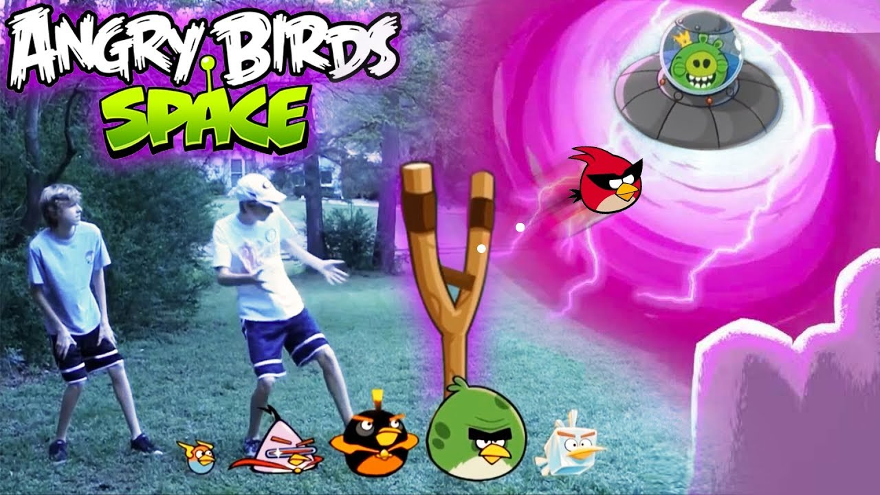 Real Life Angry Birds Space - YouTube