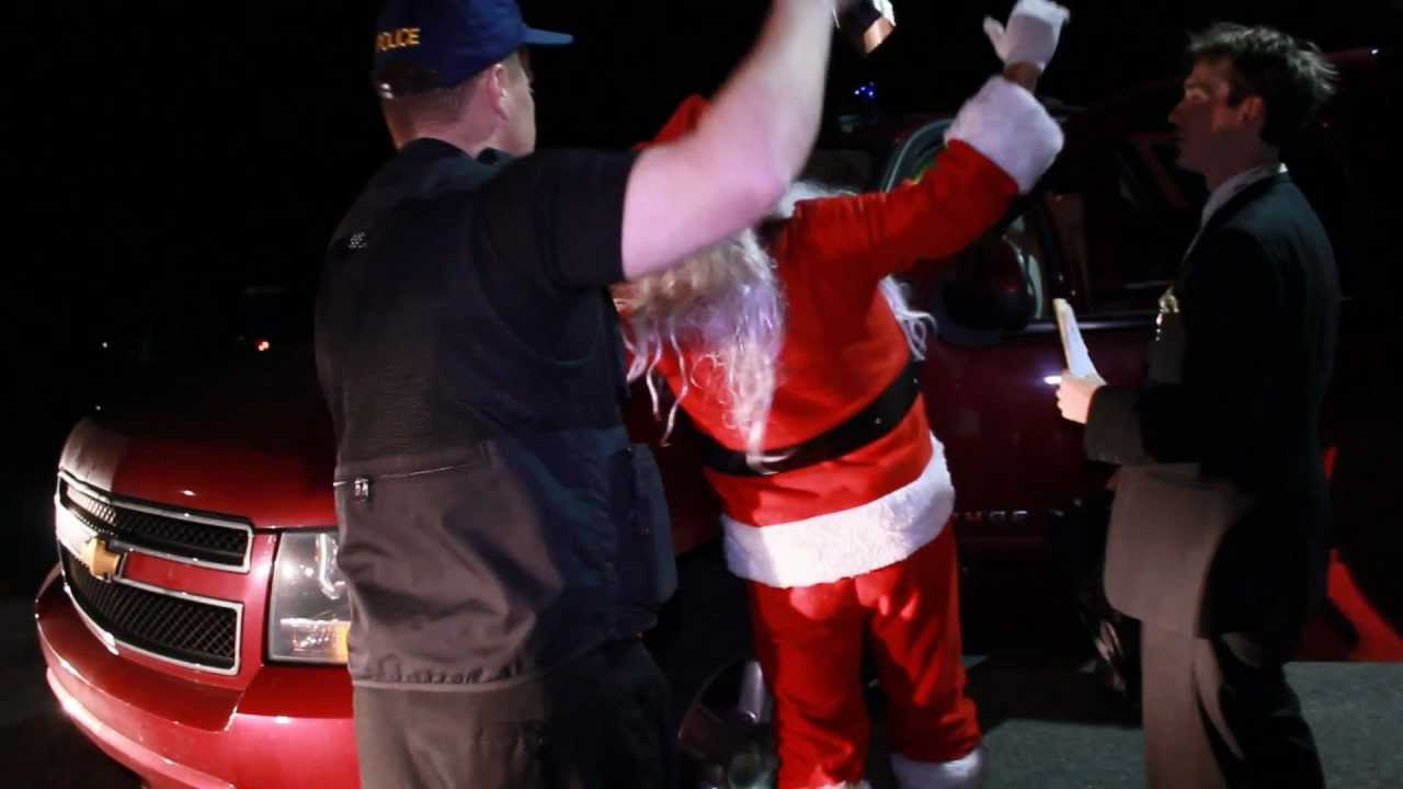 Santa Arrested by the FDA, Shocking News Footage (Part 1) - YouTube