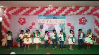 Dekho dekho Kya woh ped hai by LKG&UKG kids of Hello kids Guntur