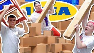СТРОИМ САМЫЙ ОГРОМНЫЙ ФОРТ В IKEA