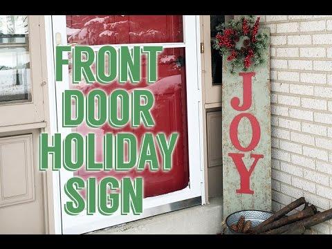 DIY Front Door Holiday Sign