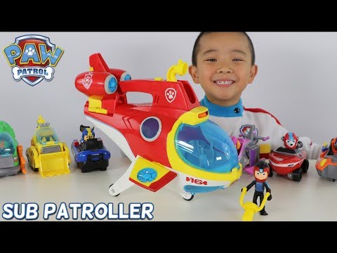 PAW Patrol Sub Patroller Transforming Vehicle Toys Unboxing Fun With CKN Toys