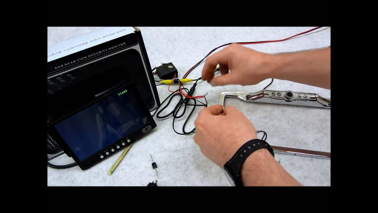 How To Wire Your Rear View Camera With An Override Switch Youtube Roadstar Caravan Wiring Diagram