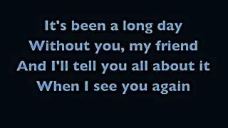 Lirik lagu See You Again, Wiz Khalifa feat Charlie Puth