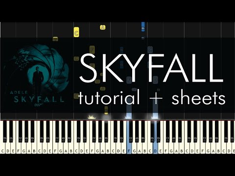 Skyfall  Piano Tutorial  How to Play  Adele