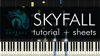 Skyfall - Piano Tutorial - How to Play - Adele
