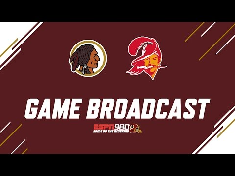 Redskins Radio Booth LIVE vs Bucs