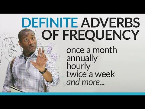 English Grammar: Definite Adverbs of Frequency