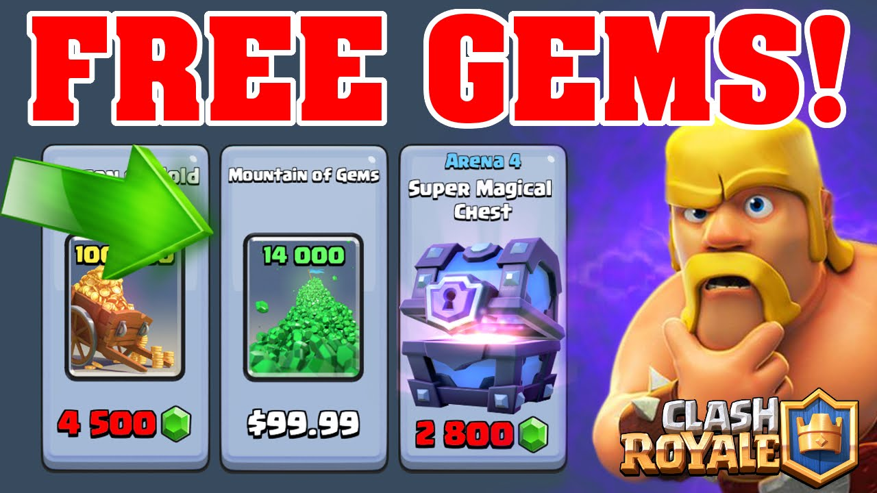 free my apps clash royale gems
