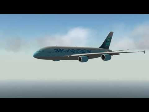 X-Plane 10 with A380 (FJDG)