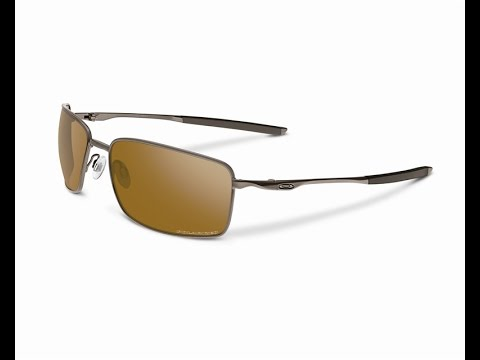 7c51c97631 Oakley Square Wire Tungsten Polarized OO4075-06 Sunglasses - YouTube
