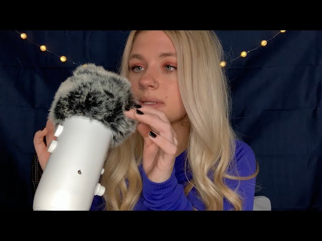 ASMR| PURE INAUDIBLE WHISPERING & FLUFFY MIC COVER