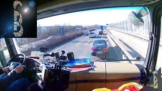 Sascha auf LKW-Tour - Wenn der LKW automatisch bremst (Notbremsassistent) [Lautes Video]
