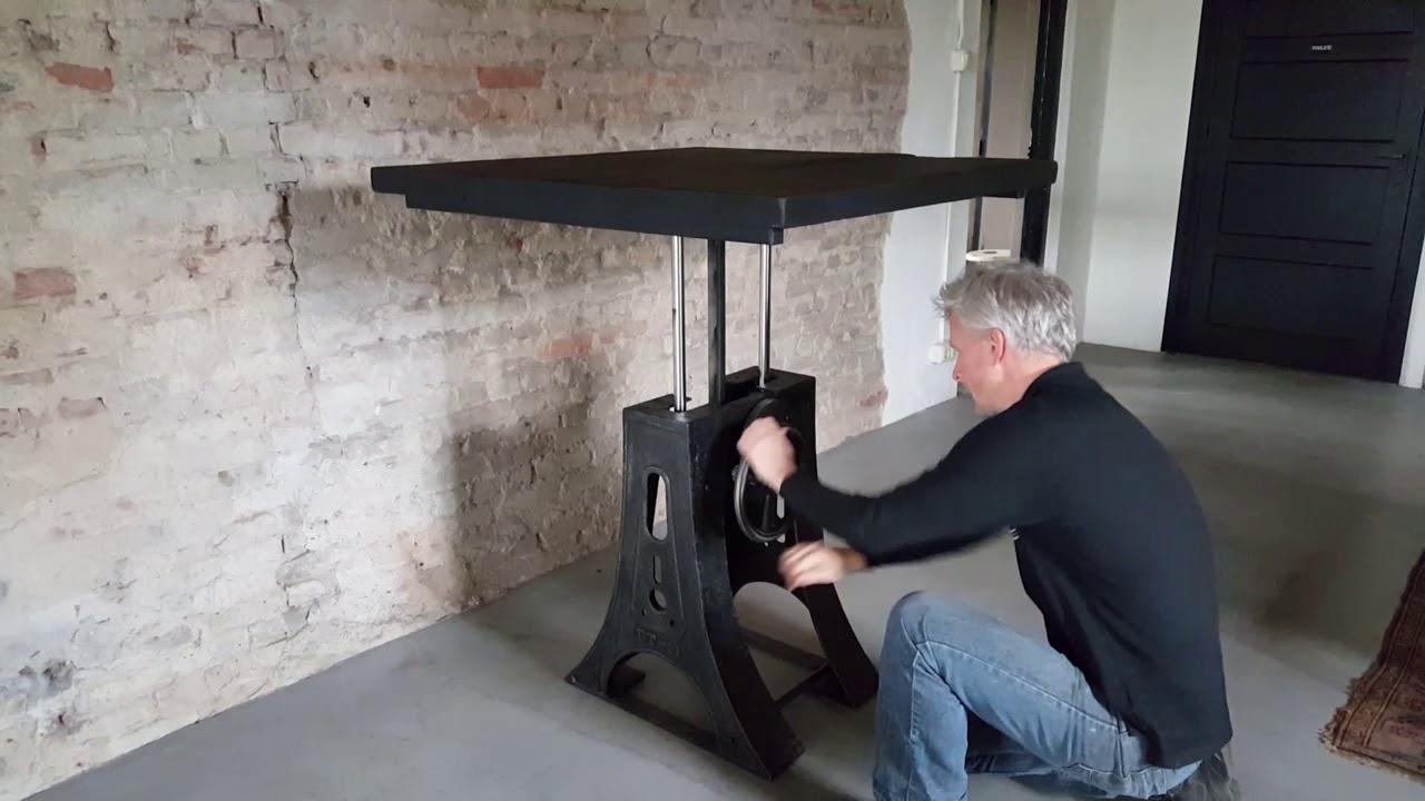 Dt23 adjustable height industrial table hoogte verstelbare tafel
