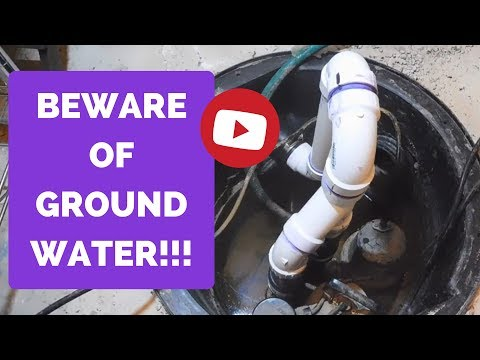 Sump Pump Review - BEWARE OF GROUNDWATER LEVEL