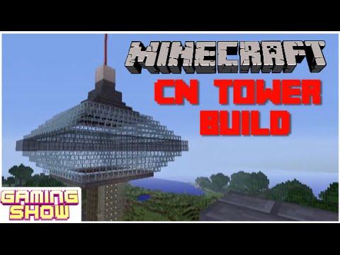 Minecraft Cn Tower Build Youtube