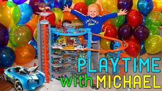dinosaurs my hot wheels super ultimate gargage playtime with michael